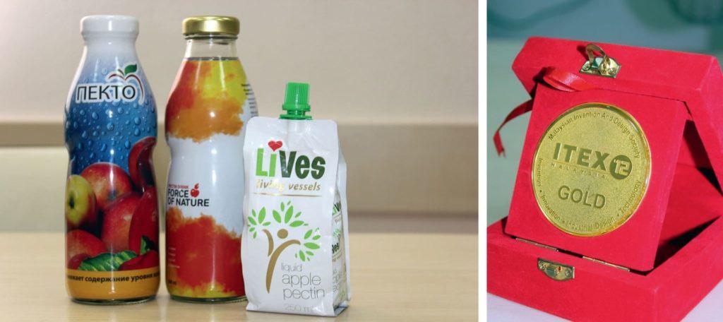 Жидкий яблочный пектин «Пекто» из России с любовью